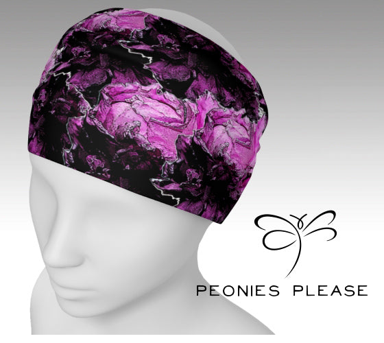 'Peonies Please' Artwear' headband