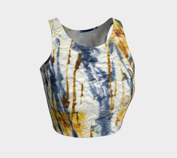 'Crinkled Cattails' Crop Top