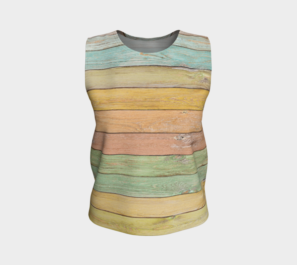 'Pastel Planks' Loose Tank Top