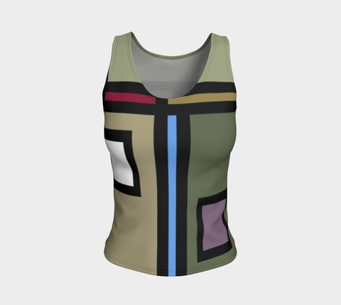 'A Thin Line' Fitted Tank Top