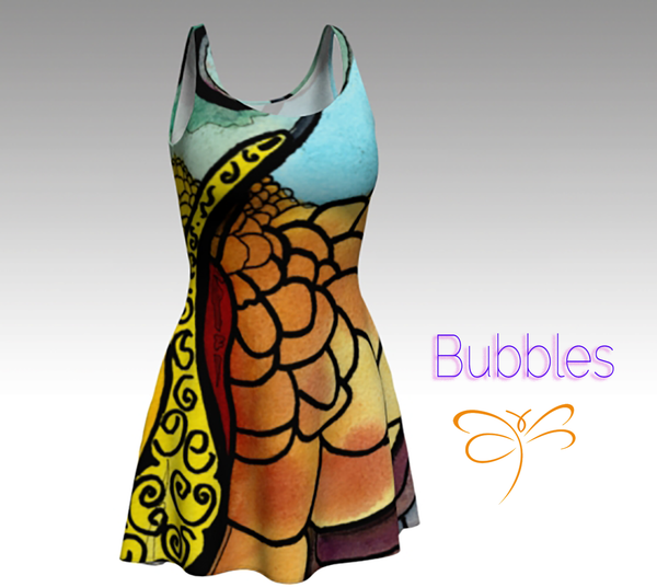 'Bubbles' Flare Dress