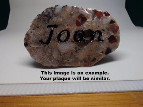 Engraved Pudding Stone Name Plate