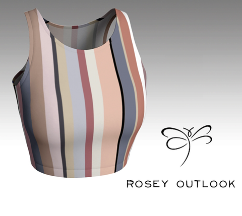 'Rosey Outlook Strip'' Crop Top
