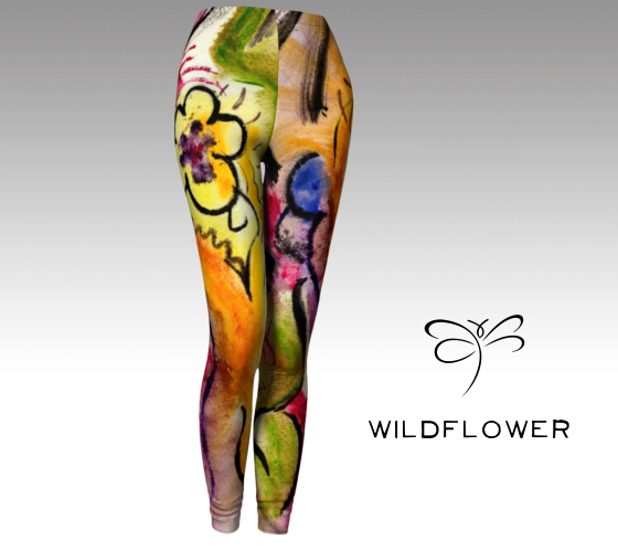'Wildflower' Women's 'ArtWear' leggings