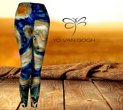'Yo Van Gogh' Women's 'ArtWear' Leggings