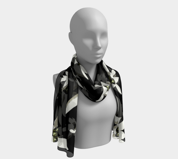 'Black Edelwiess' Long Scarf