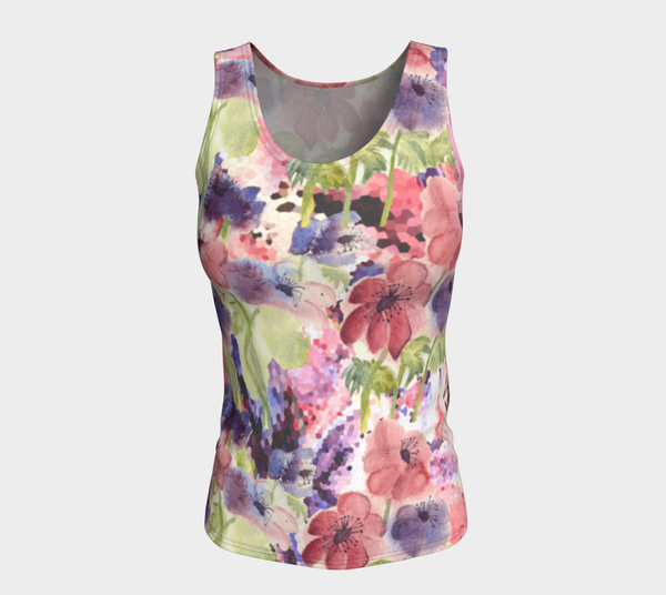 'Flower Garden Too' Fitted Tank Top