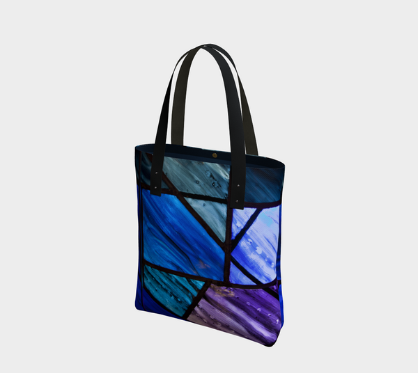 'Stain Glass Blues' Tote Bag