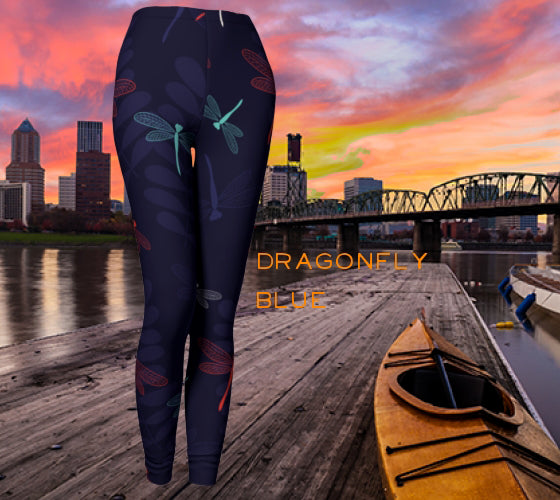 Leggings - Dragonfly Blue