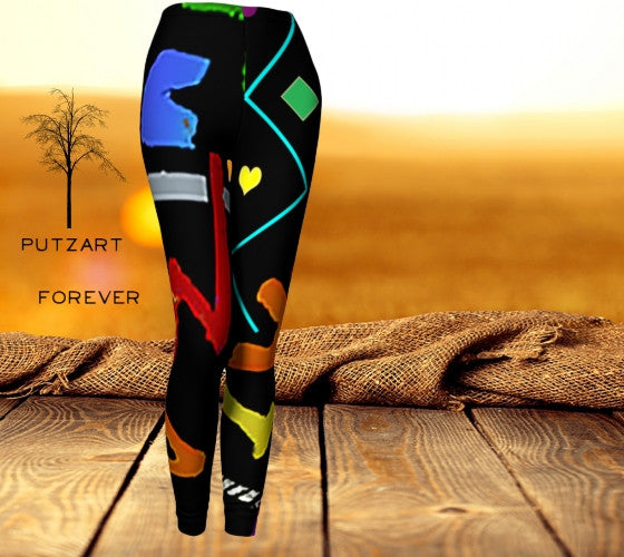 Leggings - Putzart Forever Custom Designed Leggings