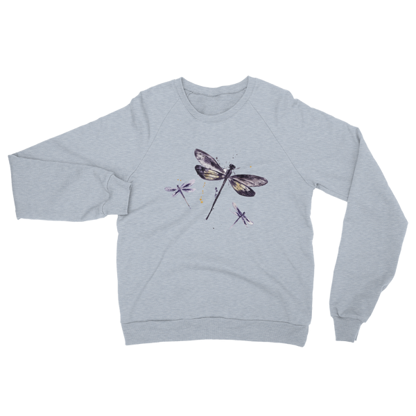 'Just Dragonflies' Unisex California Fleece Raglan Sweatshirt