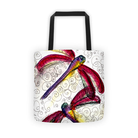 'Dragonfly Duet' Tote bag