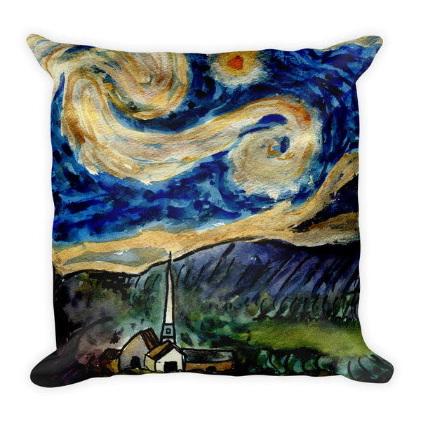 'Yo Van Gogh' Square Pillow