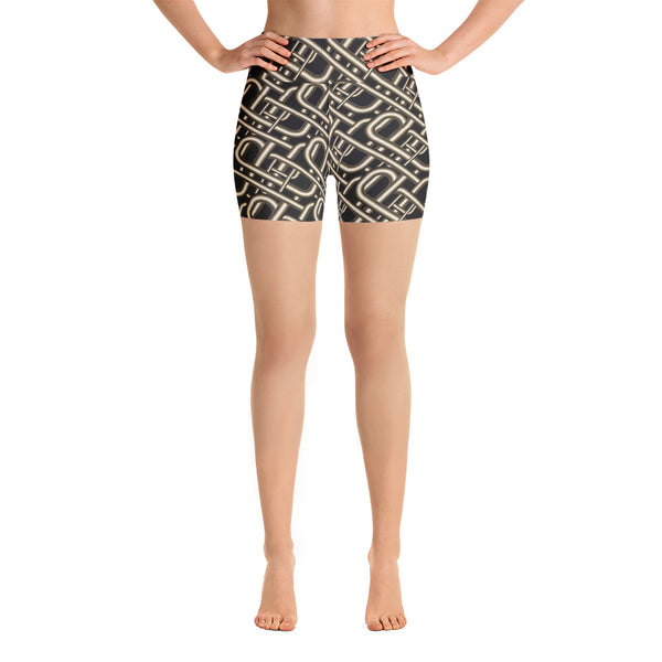 'Hard Wired' Yoga Shorts