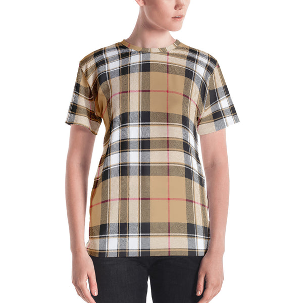 'Just Plaid' (beige) Women's T-shirt