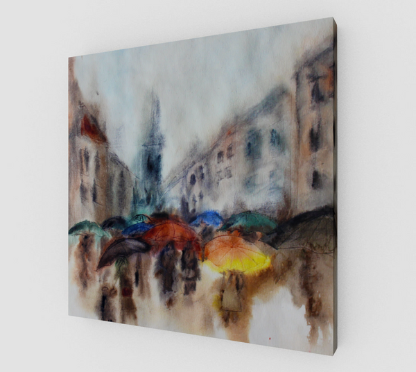 Rainy Day on Canvas