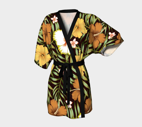 'Jungle No Cats' Kimono Robe