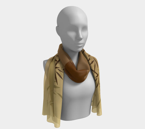 'Bamboo Dragonfly' Long Scarf