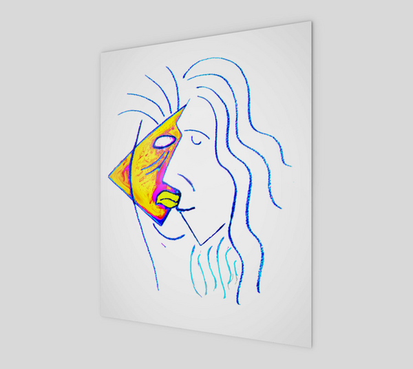 Face to Face art print(white background)