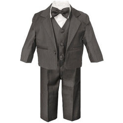 Baby Boys Charcoal Grey 5 Piece Suit