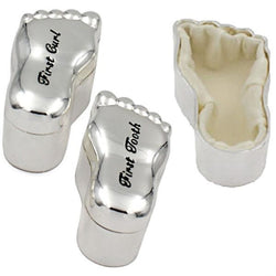 Silver Plated Feet Trinket boxes