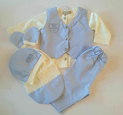 Baby Box Boxed 6 Piece Soft Blue Outfit