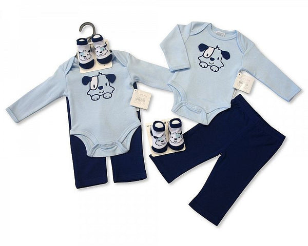 3 Piece Puppy Layette Clothing Set