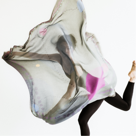 ASCENDING SPACE scarf by  Darshana Shilpi Rouget