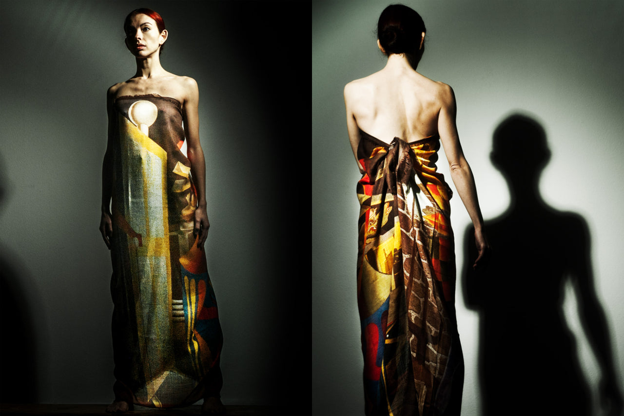 Vivid Silk scarves, in collaboration with the Man Ray Trust and Alba Amicorum