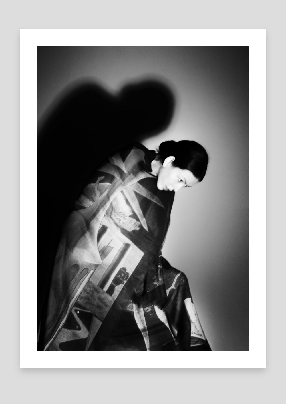 black and white photograh, man ray scarf
