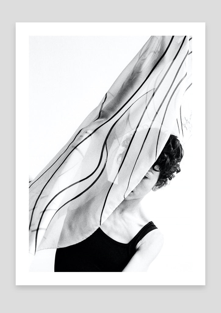 ink jet art photograph - dancer, Man Ray scarf