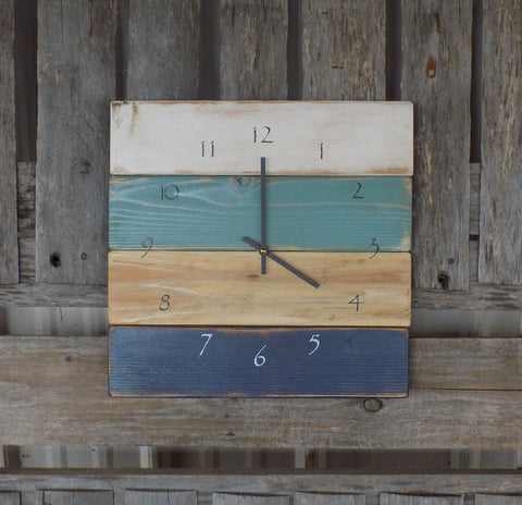 Wood Beach Pallet Clock - The Pallet Doctor