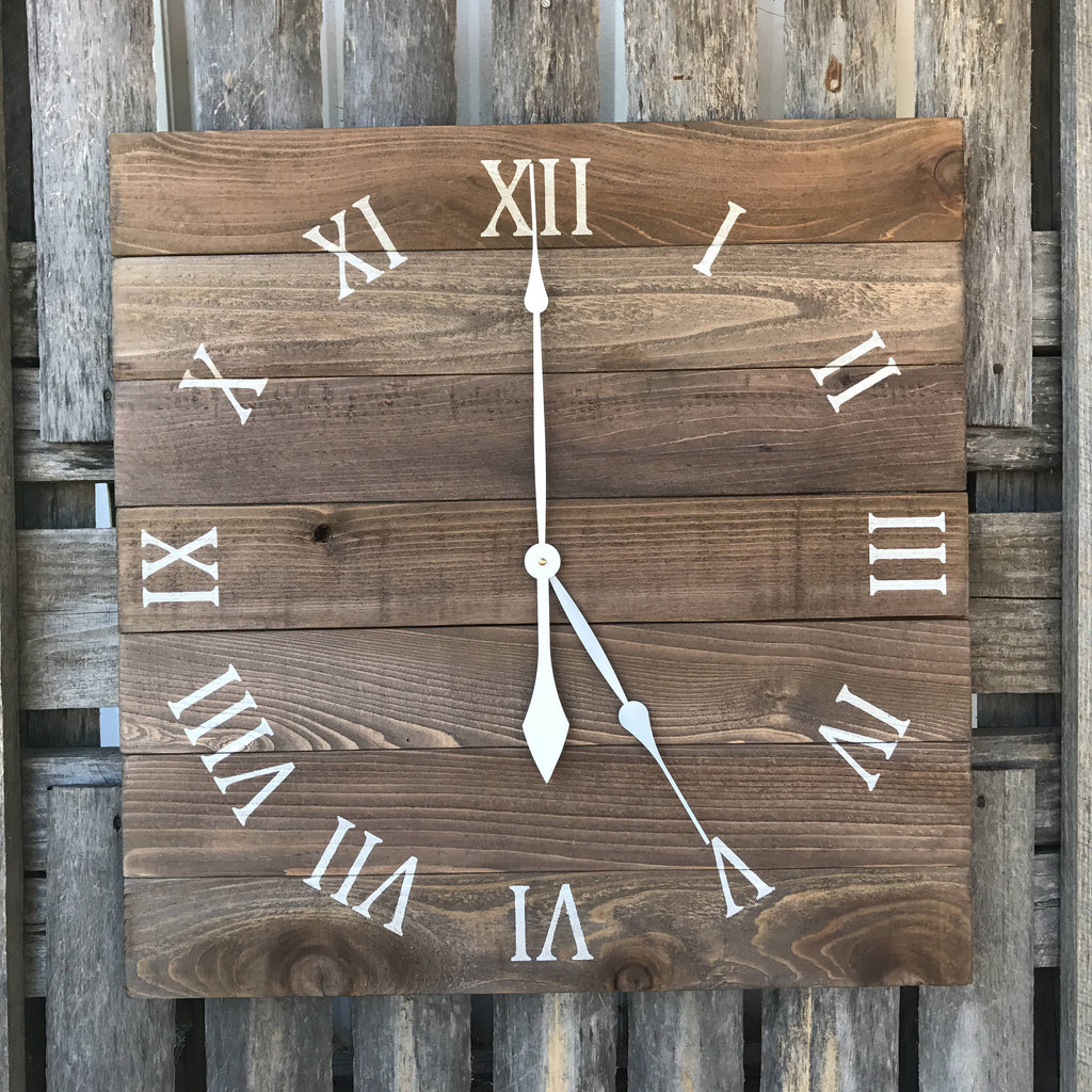 Large pallet clock rustic wall clock primitive wood clock wood large pallet clock rustic wall clock primitive wood clock wood wall clock amipublicfo Image collections