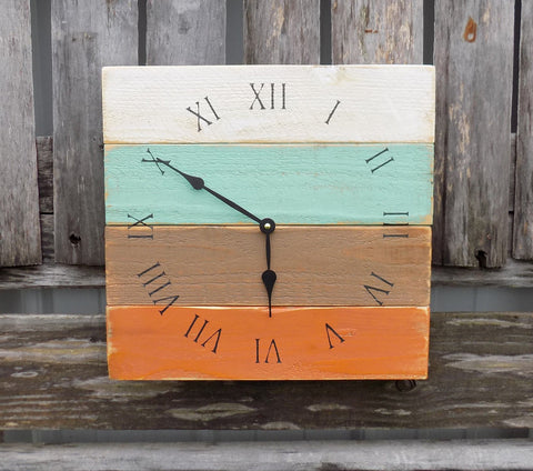 Distressed Wood Beach Clock - The Pallet Doctor