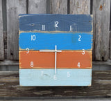 Multicolor Square Nautical Clock - The Pallet Doctor
