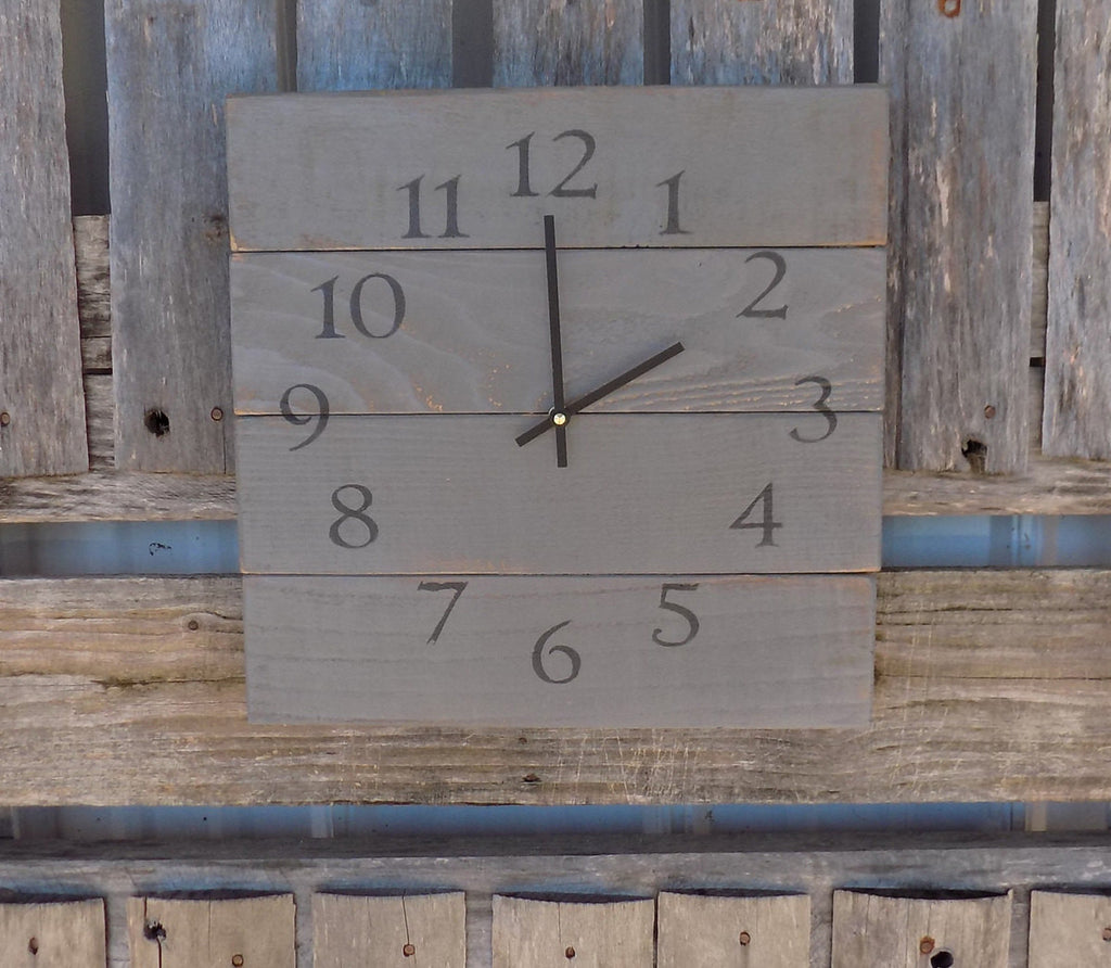 Rustic Industrial Grey Square Clock - The Pallet Doctor