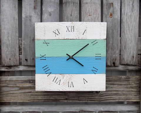 Rustic Beach Pallet Clock - The Pallet Doctor