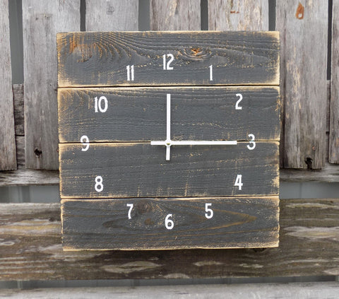 Primitive Black Pallet Clock - The Pallet Doctor