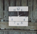 White, Brown, and Grey Wood Pallet Clock - The Pallet Doctor