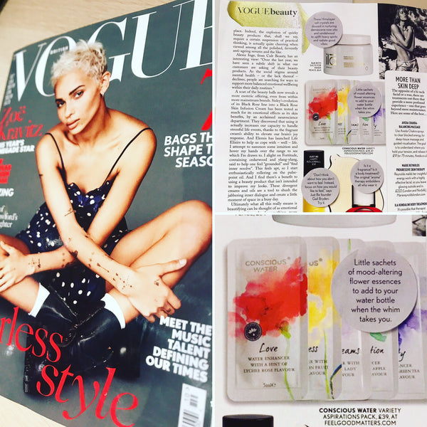 Vogue UK | Conscious Water in the press