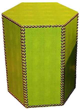 Blake Accent Table, Faux Lime Snakeskin (3 available)