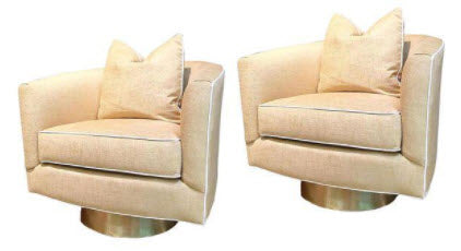 Pair, Hollings Chairs- Crypton Fabric