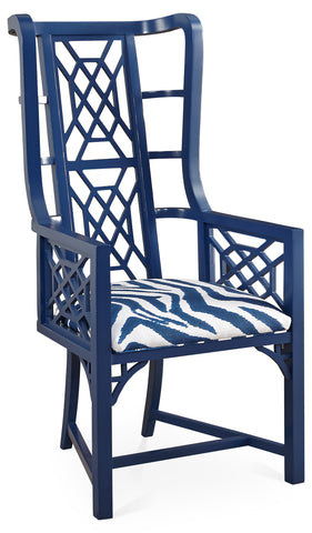 Cobalt Kings Grant Arm Chair