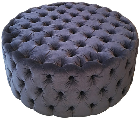 Round London Tufted Ottoman