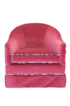 Velvet Newport Swivel Chair, Fuschia