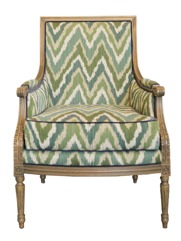 Phillip Chair, Chevron fabric