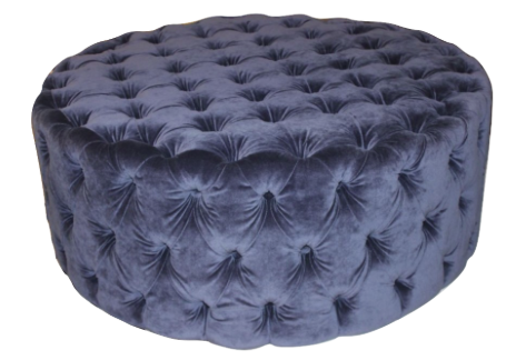 London Tufted Ottoman, Round