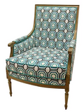 Phillip Chair, Turquoise Fabric