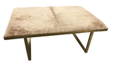 Kelly Coffee Table, Champagne Cowhide