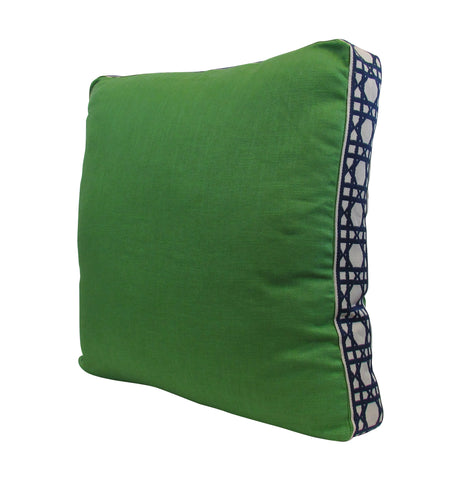 Lacefield for TBH - Green/Navy Pillow